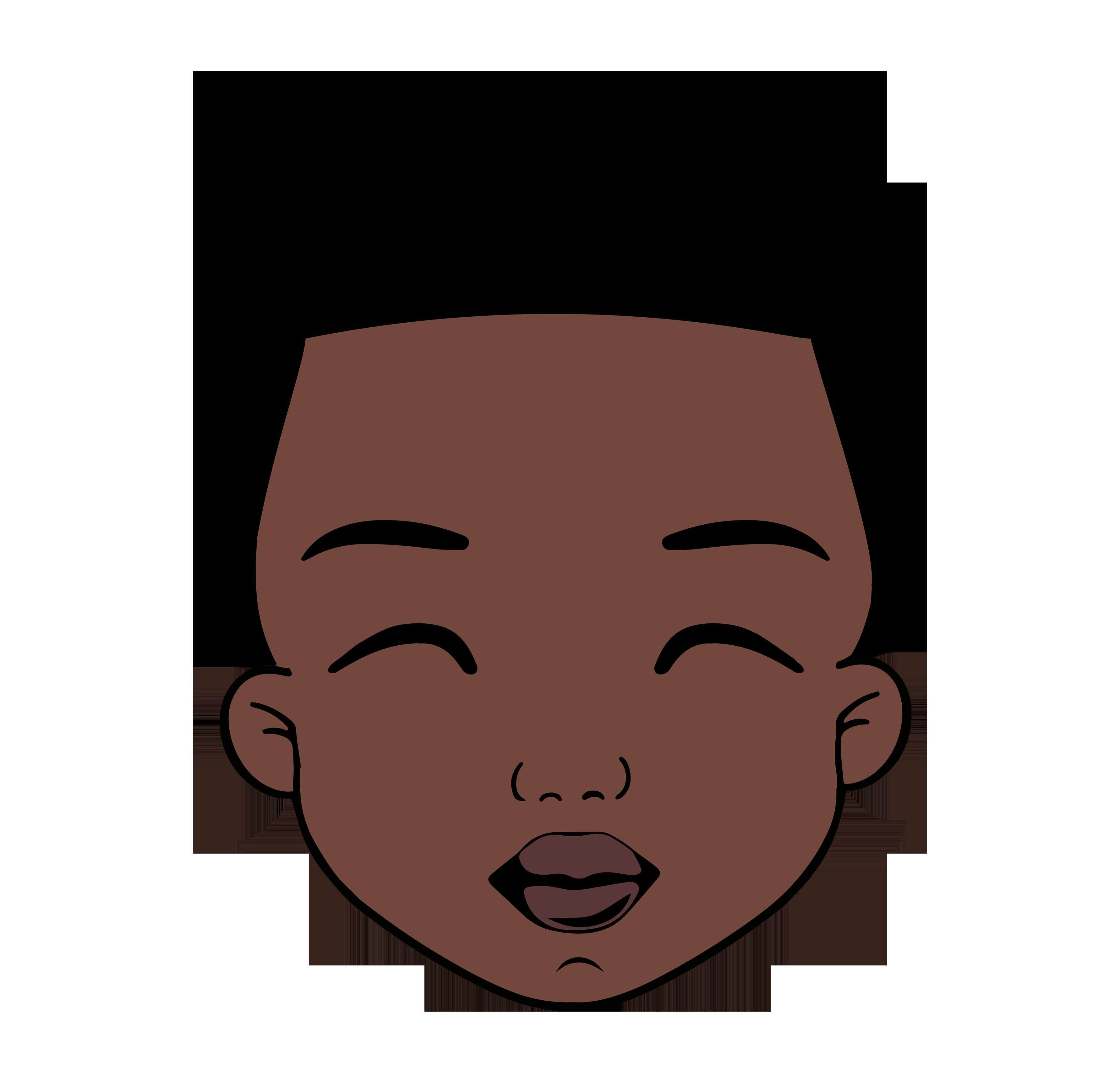 DIDIKO designs Cute Afro Puff Girl SVG