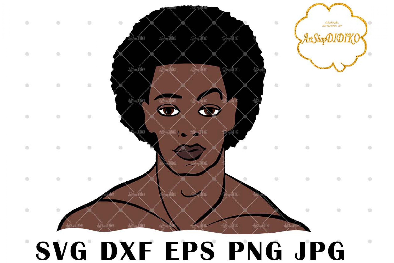 Afro Man SVG, African American Man SVG, DXF, EPS, PNG, JPG, Cricut Cut Files