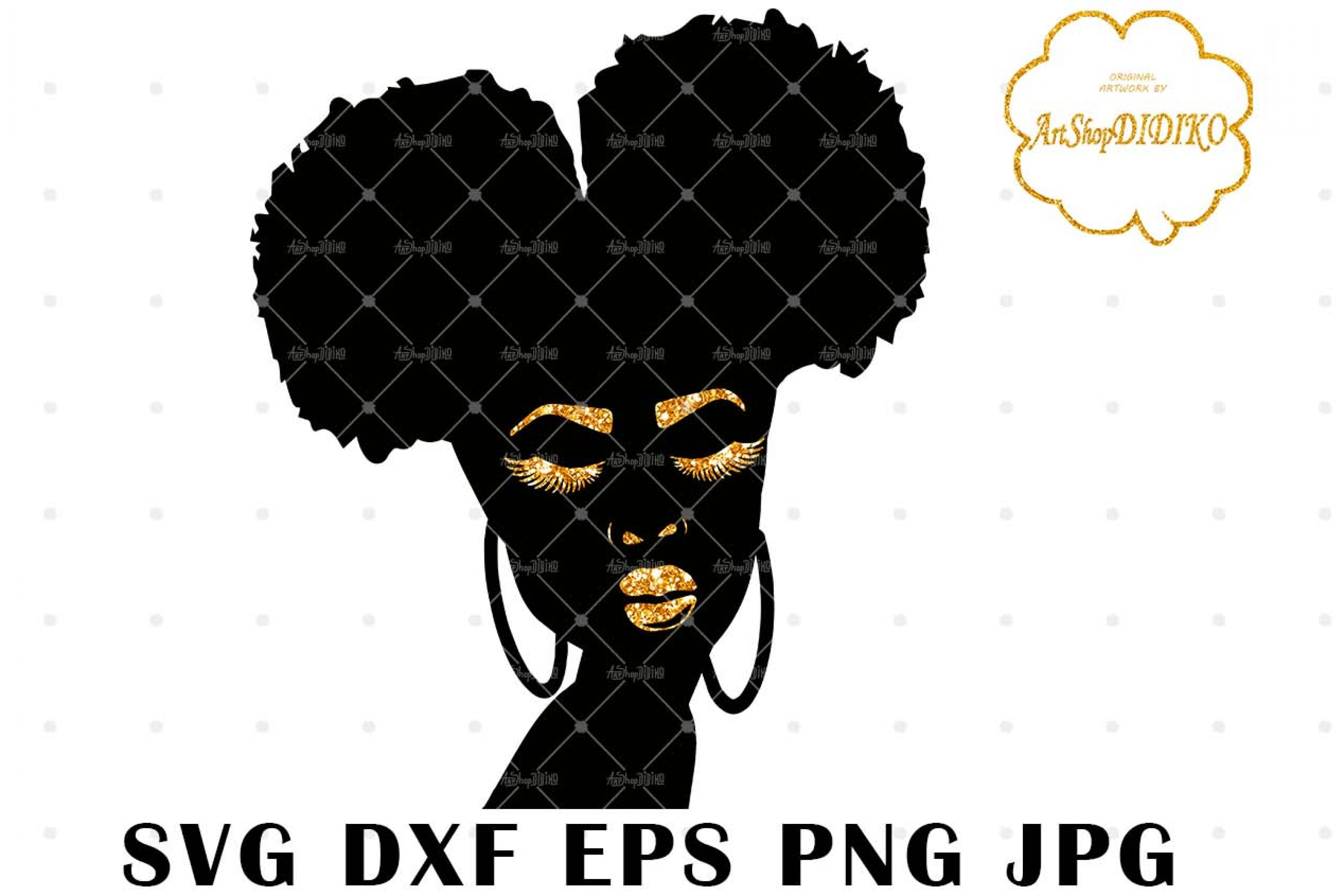 Black Girl Magic Two Puffs SVG, African American SVG