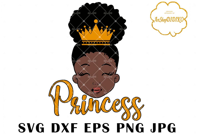 Black Girl Crown SVG #2, Afro Princess Svg, Afro Puff