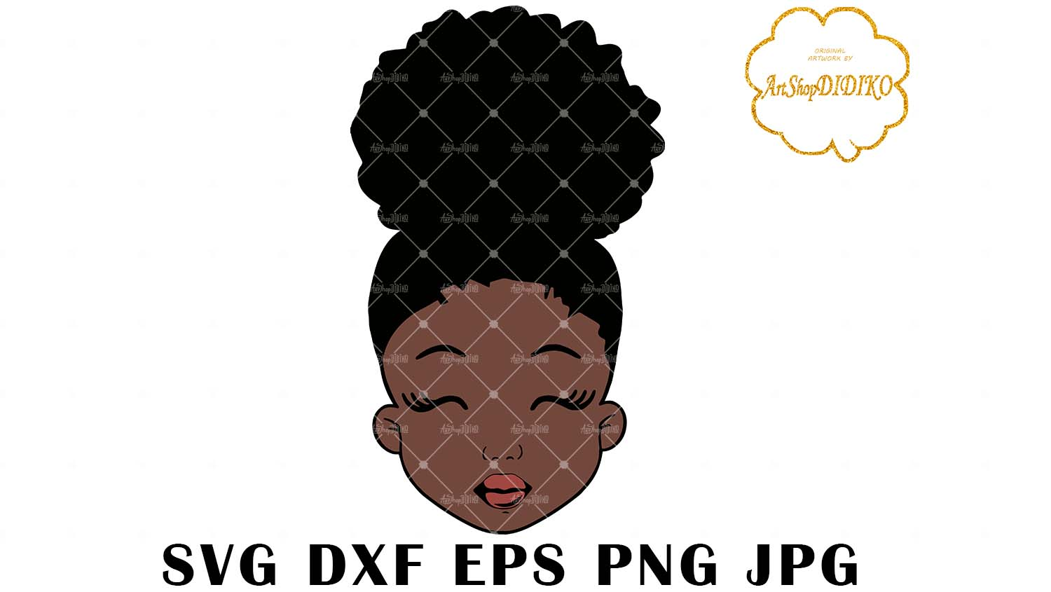 Download Cute Afro Girl SVG, Afro Puff Girl SVG, Afro Kid SVG ...