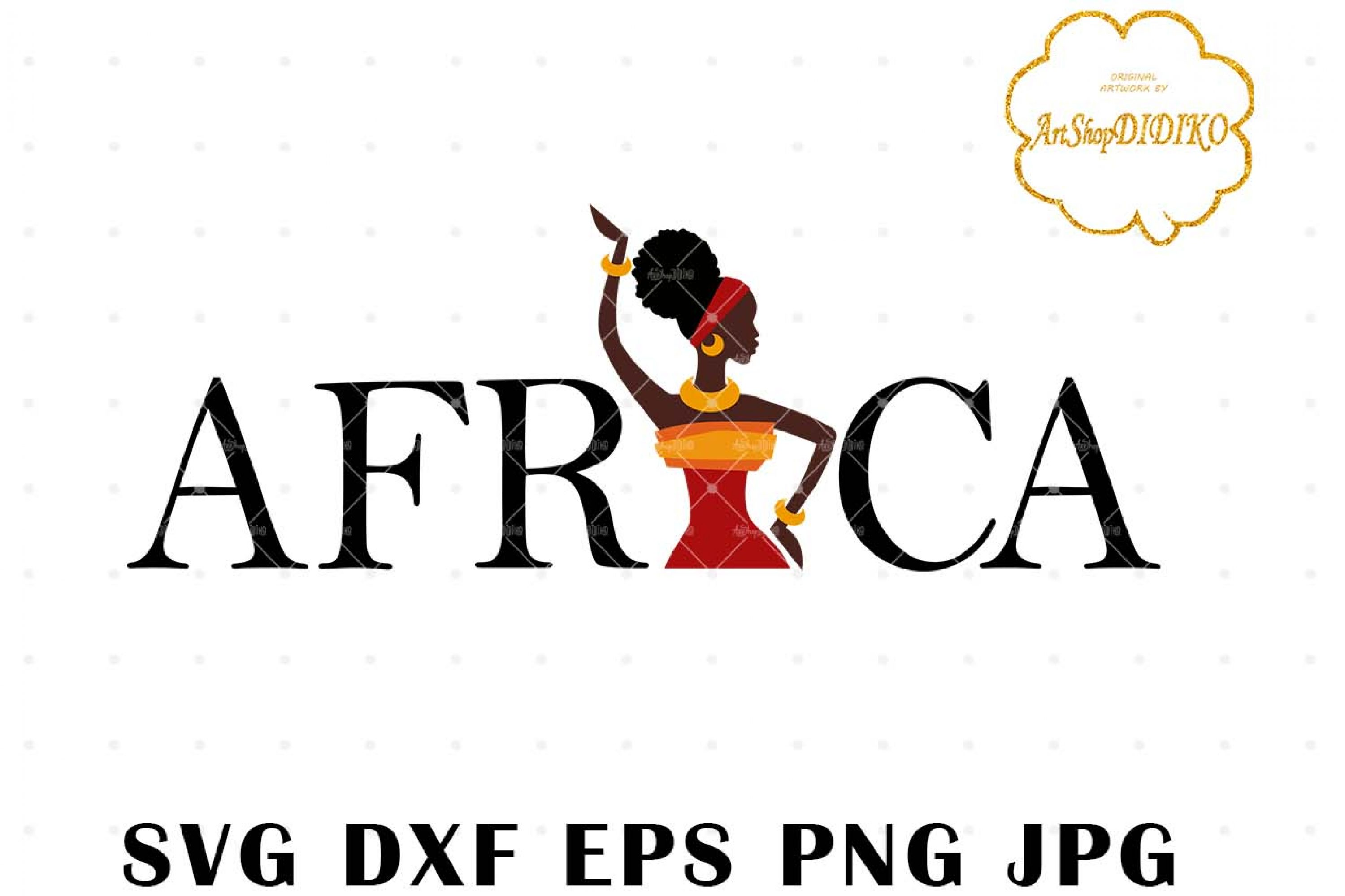 African Woman Turban 4 SVG, Africa SVG, Afro SVG