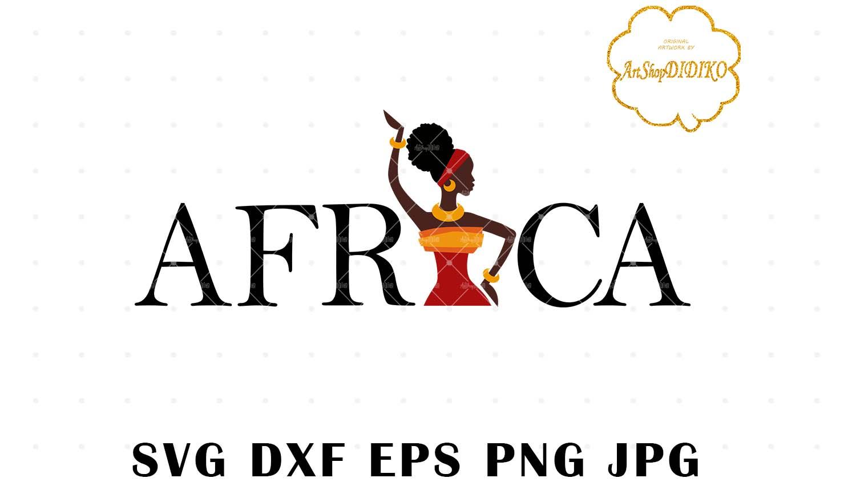 African Woman Turban SVG