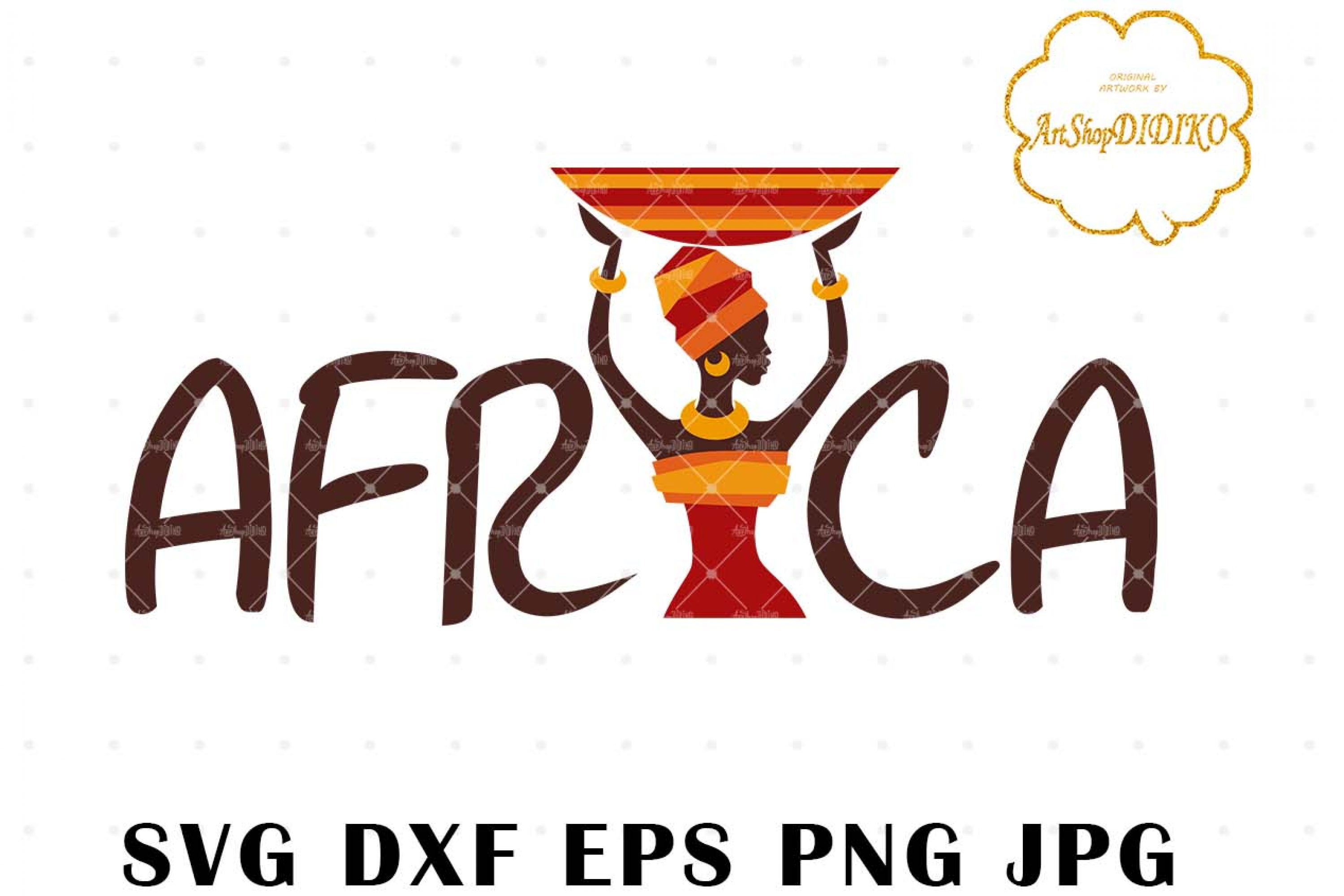 African Woman Turban 3 SVG, Africa SVG, Afro SVG