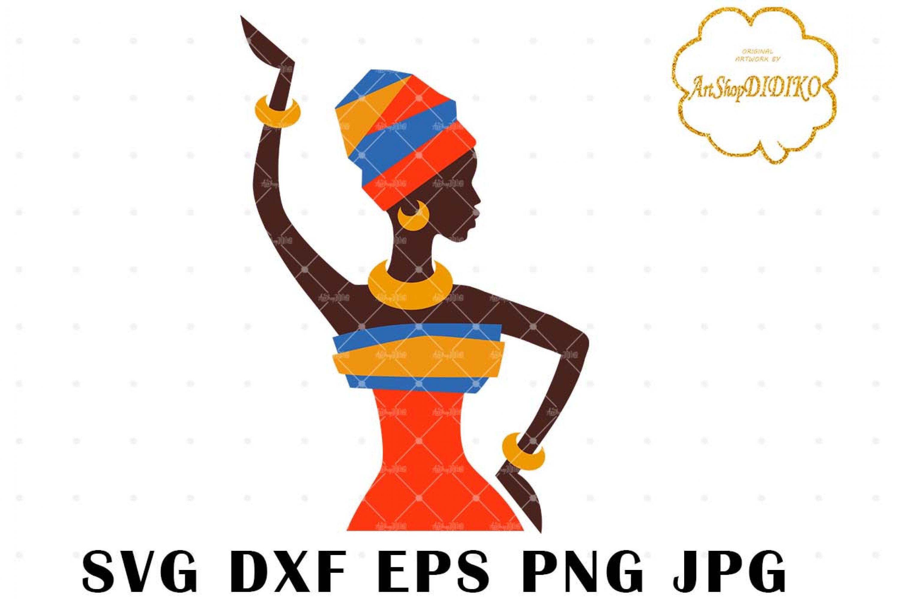 African Woman Turban 1 SVG, Afro SVG, Africa SVG