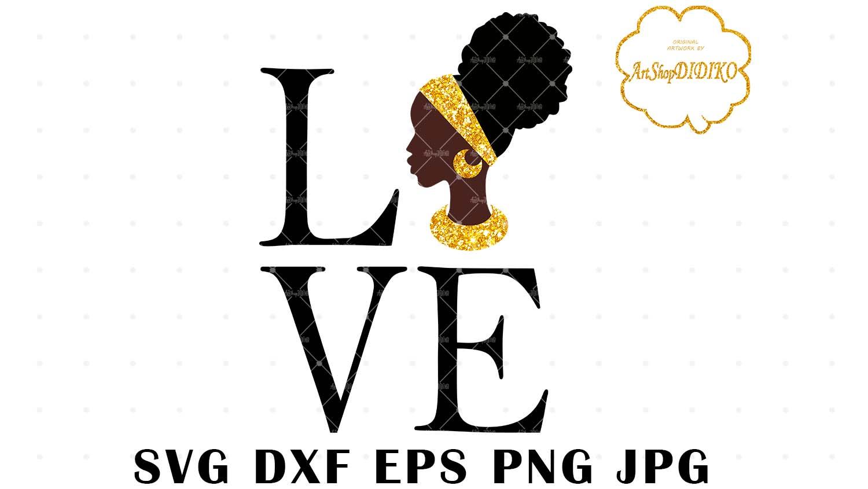 Love Africa 2 Svg African Woman Svg Afro Svg Didiko Designs
