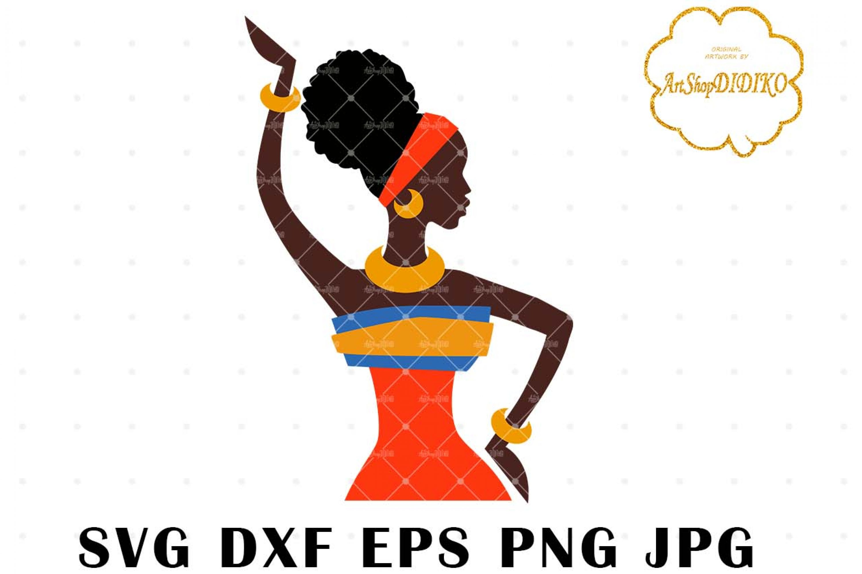 African Woman One Puff 1 SVG, Afro SVG, Africa SVG