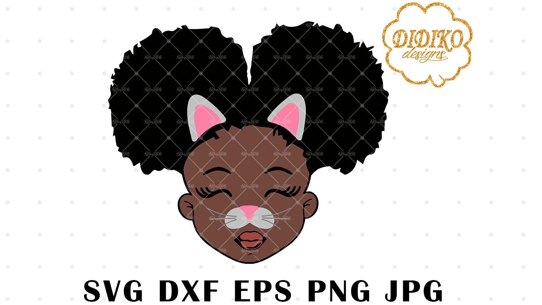 DIDIKO designs Afro Cat Girl Halloween SVG