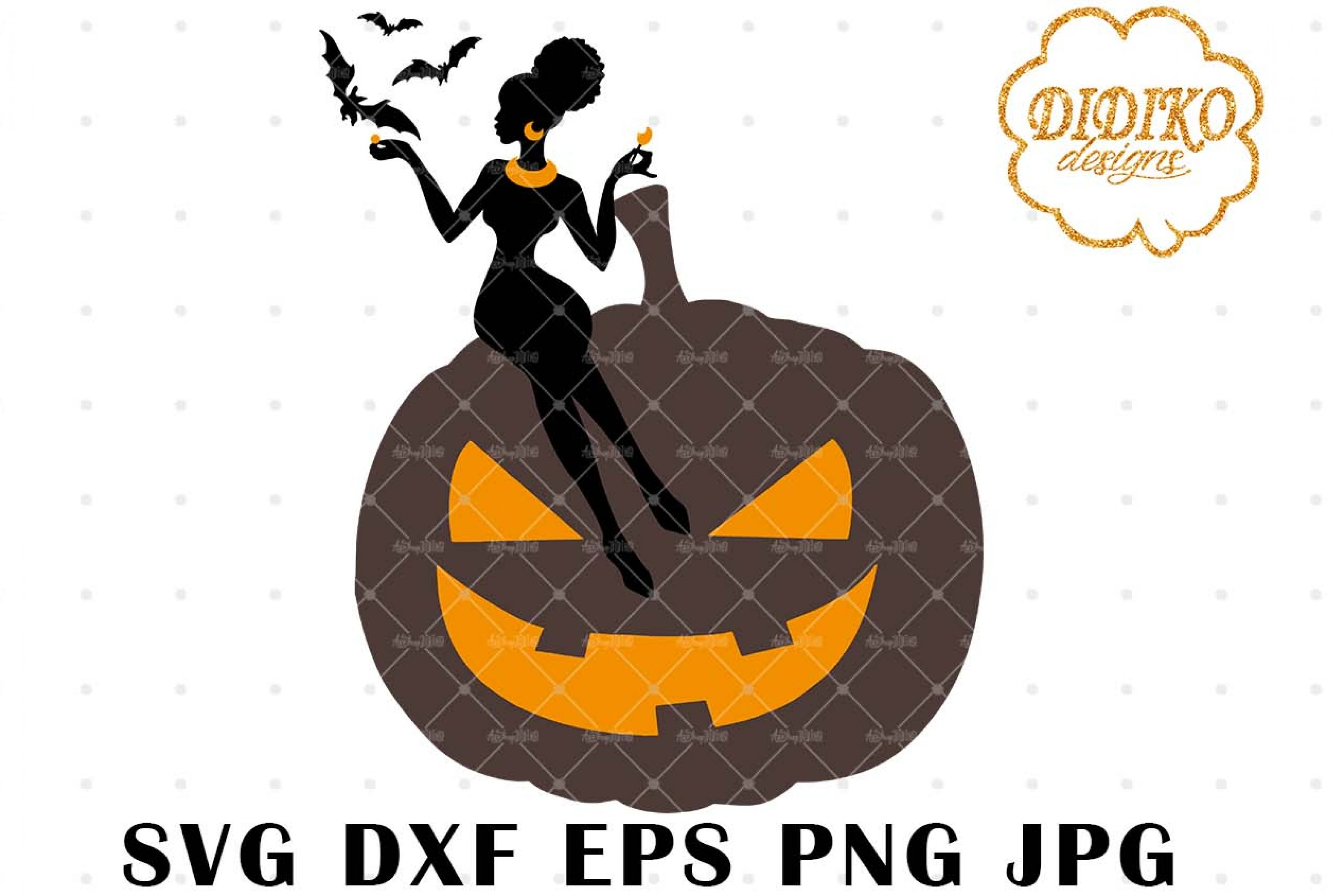 African American Boss Lady SVG 3, Halloween SVG