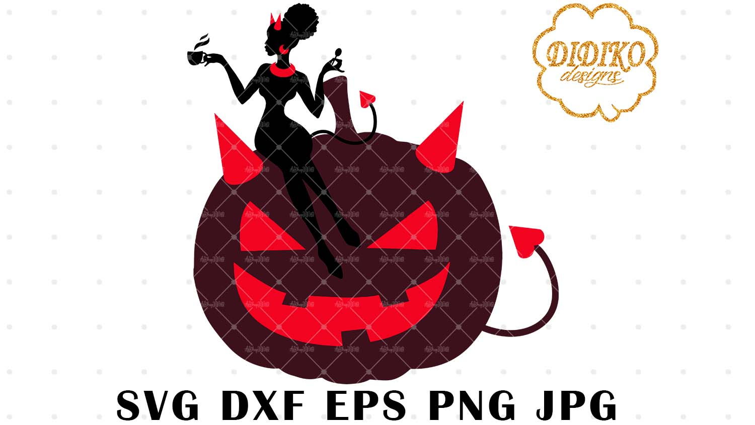 DIDIKO designs African American Boss Lady SVG Halloween SVG