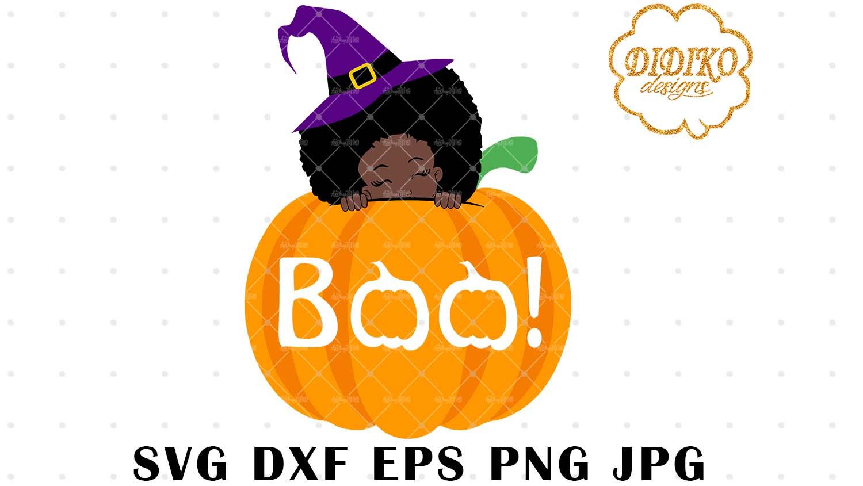 DIDIKO designs Halloween Afro Peek a Boo SVG