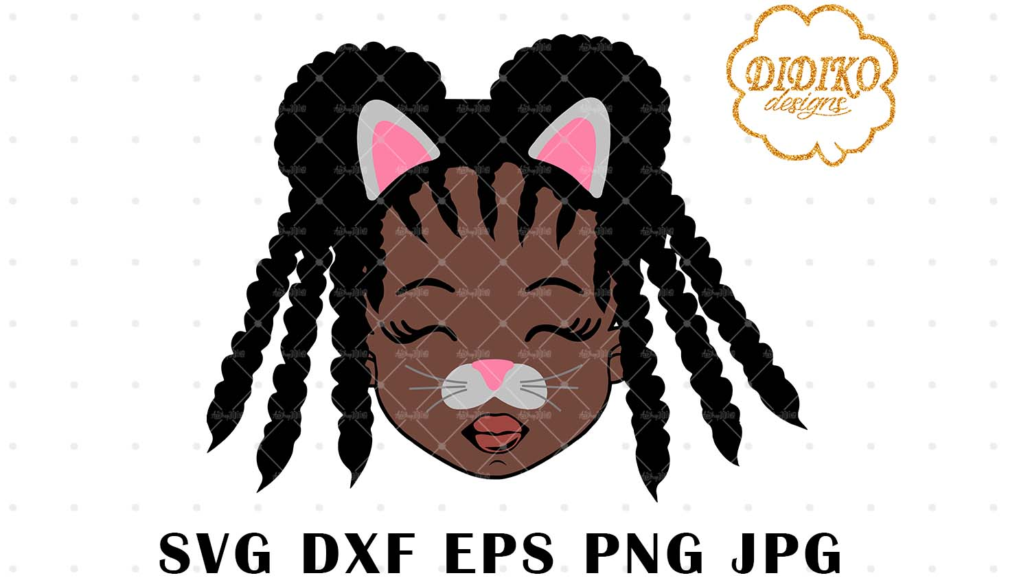 DIDIKO designs Afro Cat Girl Halloween SVG