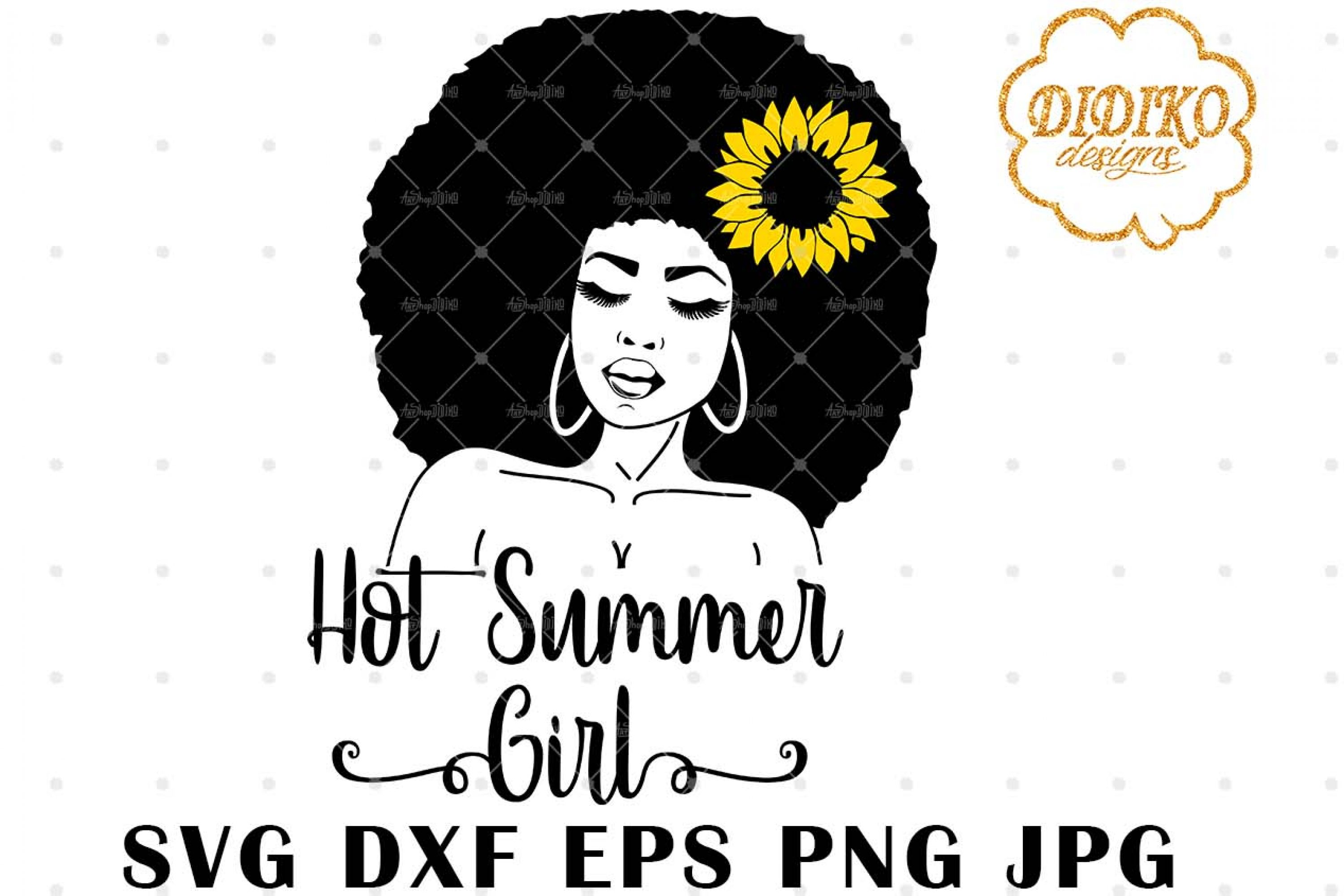Hot Summer Girl SVG, Africa American Woman SVG