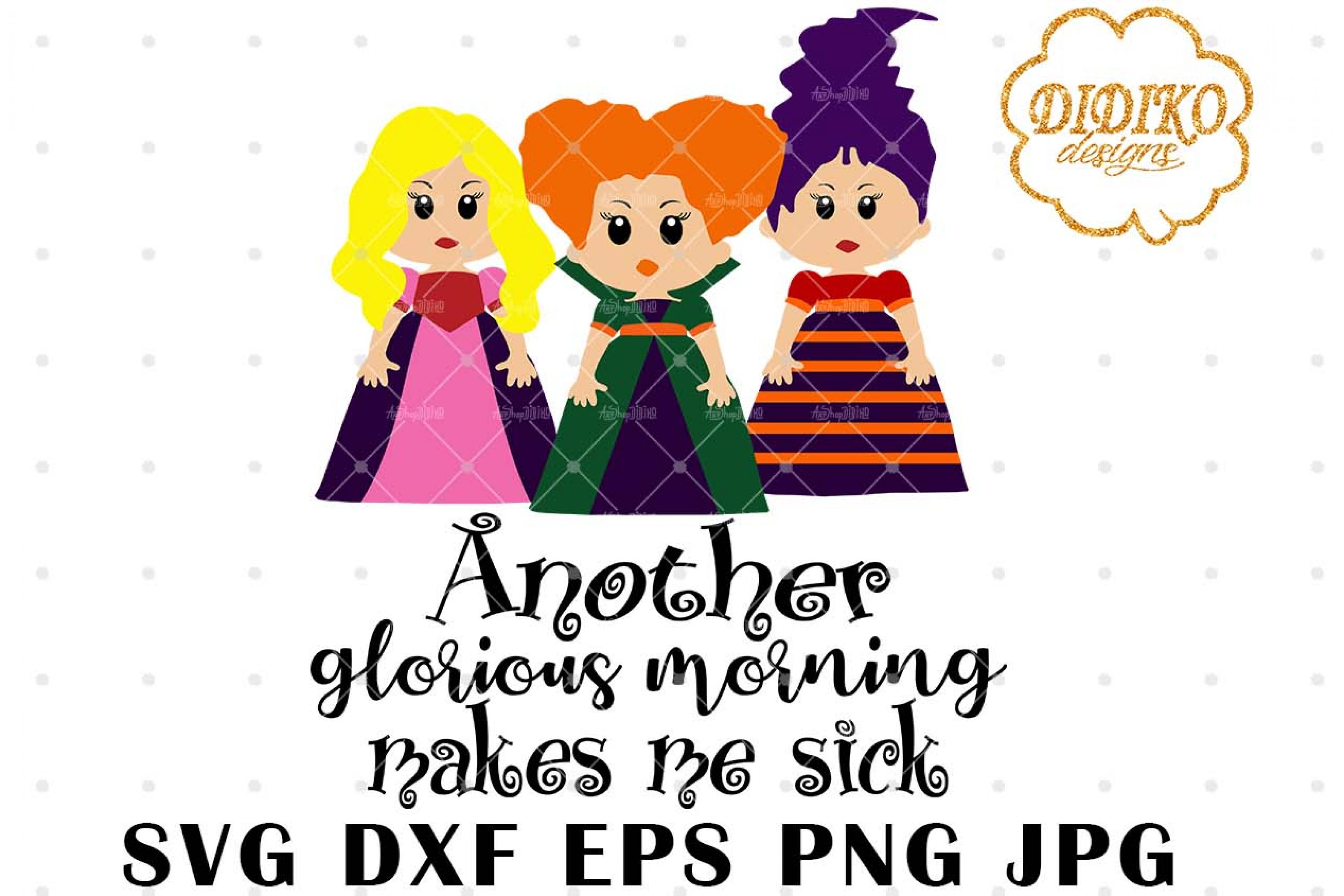 Hocus Pocus SVG #3 | Halloween SVG | Witch Cut File
