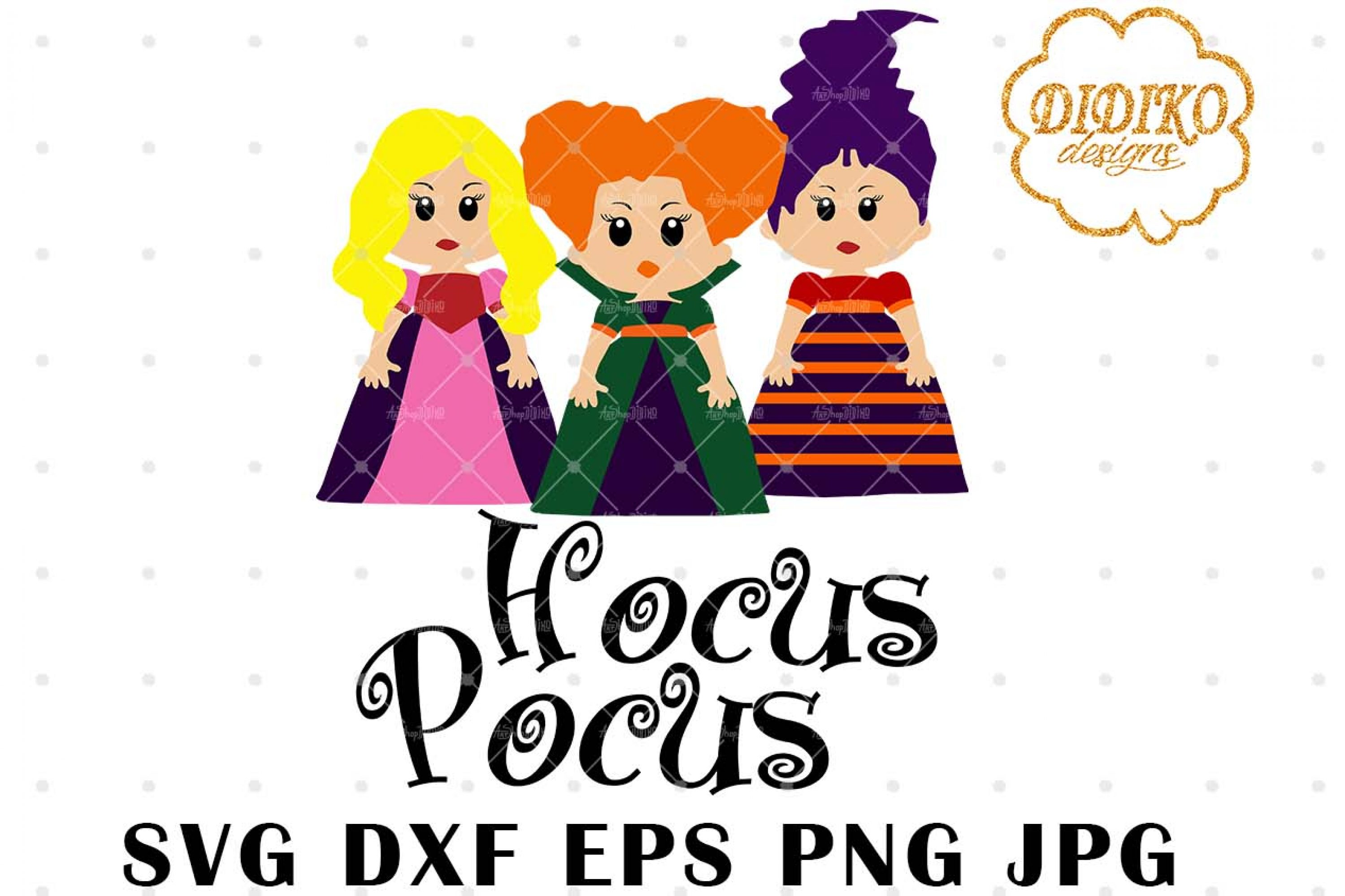 Cartoon Hocus Pocus SVG 2, Witch svg, Halloween svg