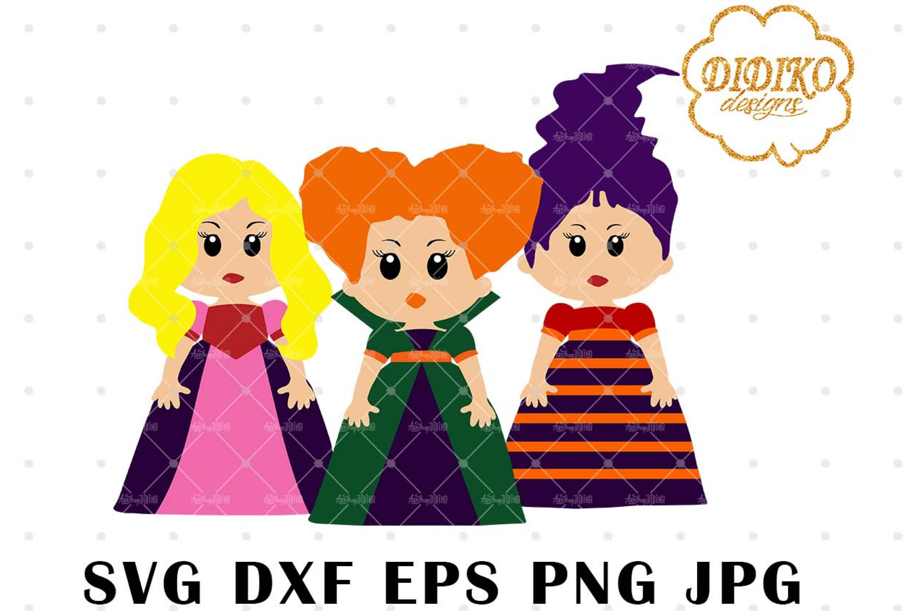 Cartoon Hocus Pocus SVG 1, Witch svg, Halloween svg