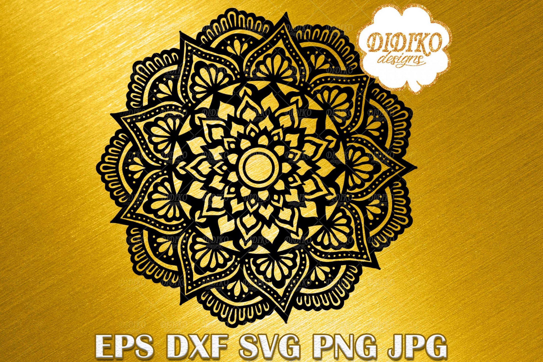 Mandala SVG #4, Mandala Cricut File, Manadla Silhouette