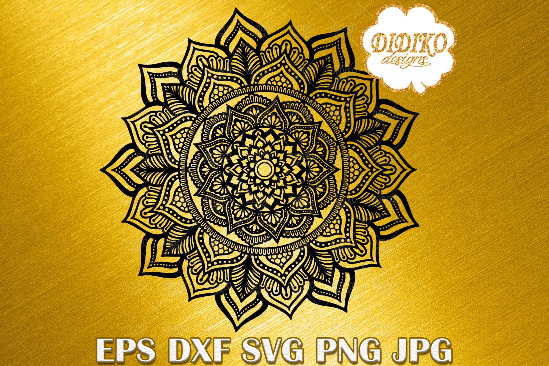 Mandala SVG #5, Mandala Cricut File, Manadla Silhouette