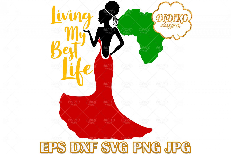 Black Bride SVG #3, Afro Woman SVG, Afro Wedding SVG, Africa SVG, Cricut Files