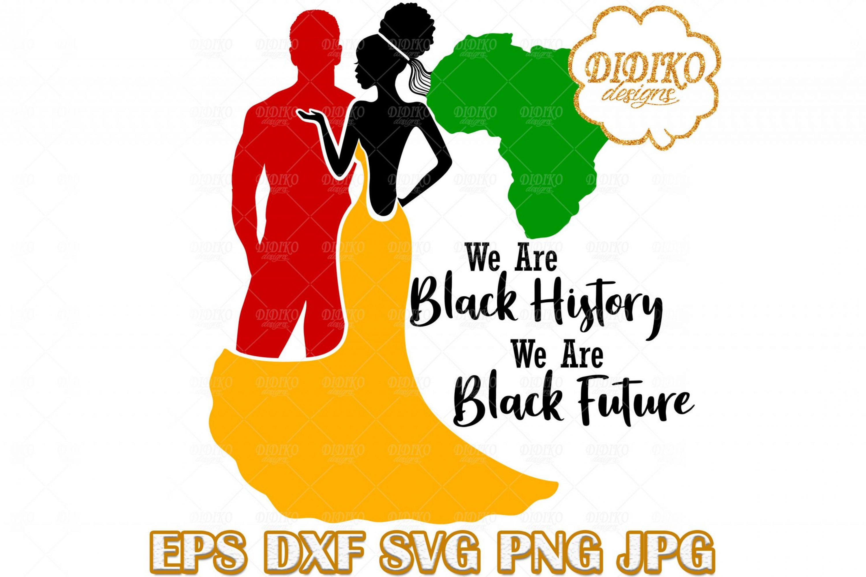 Black Couple SVG #2, Afro Wedding SVG, Afro Woman SVG, Africa SVG, Black History SVG, Cricut File