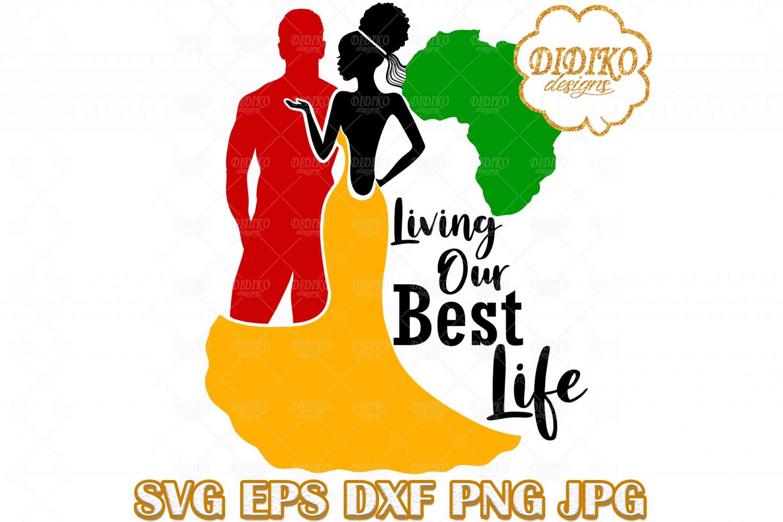 Black Couple SVG #5, Afro Wedding SVG, Afro Woman SVG, Africa SVG, Black History SVG, Cricut File