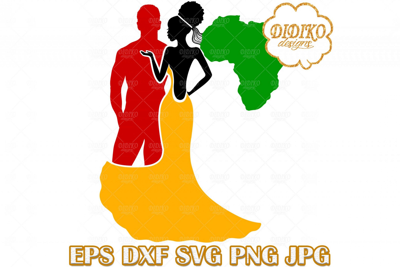 Black Couple SVG #1, Afro Wedding SVG, Afro Woman SVG, Africa SVG, Black History SVG, Cricut File