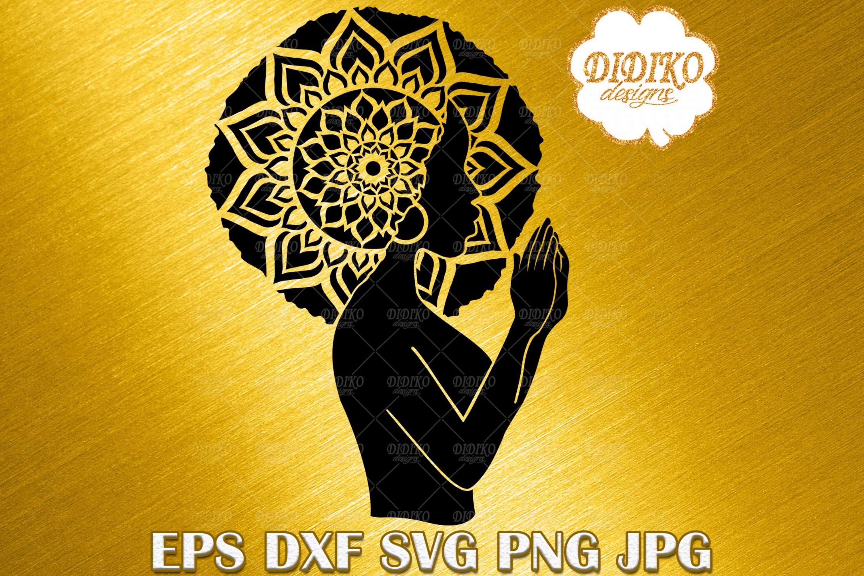 Black Woman Praying SVG #4, Mandala SVG, Black History SVG, Cricut File