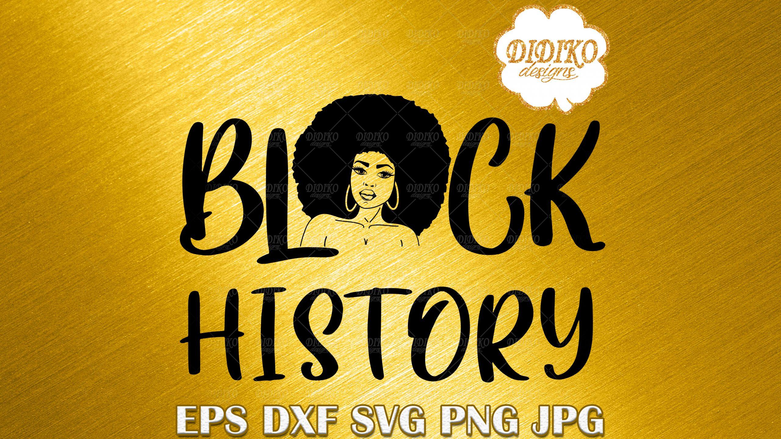 Black History Woman SVG