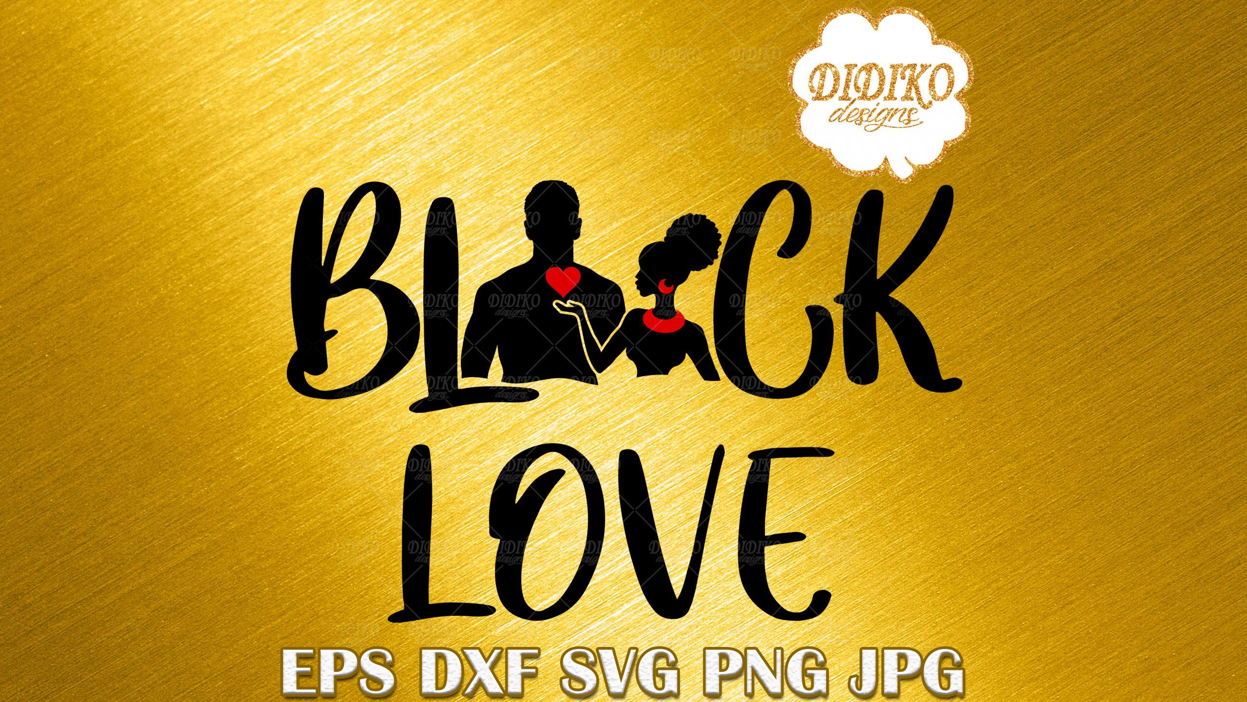 Black Couple Love SVG