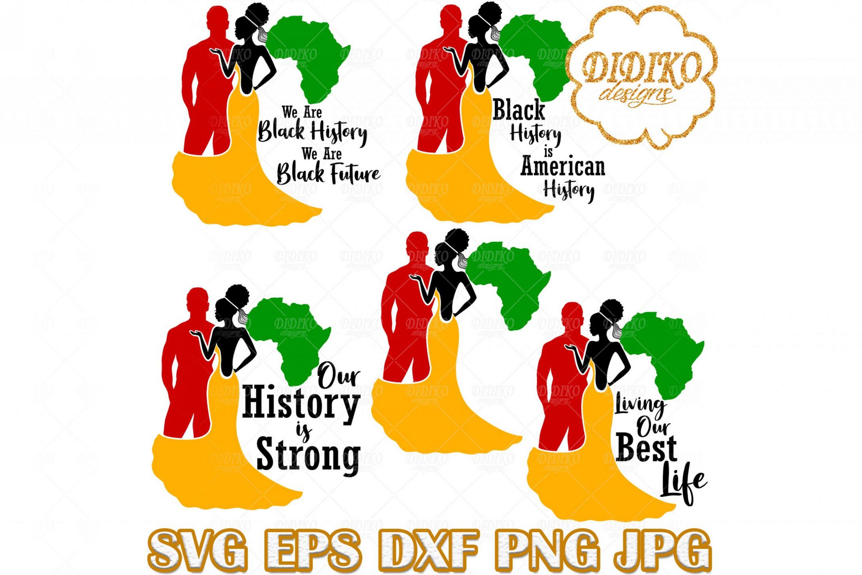 Black History Bundle SVG #4, Afro Woman SVG, Black Bride SVG, Black Couple SVG, Afro Wedding SVG, Cricut File