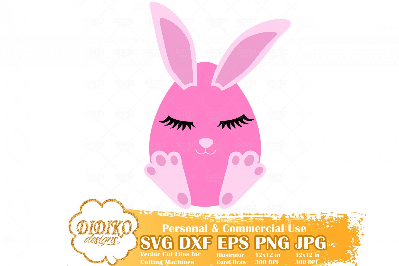 Easter Egg Free SVG #1, Easter Girl Free SVG, Egg with Bunny Ears SVG, Free Svg For Kid, Cricut File
