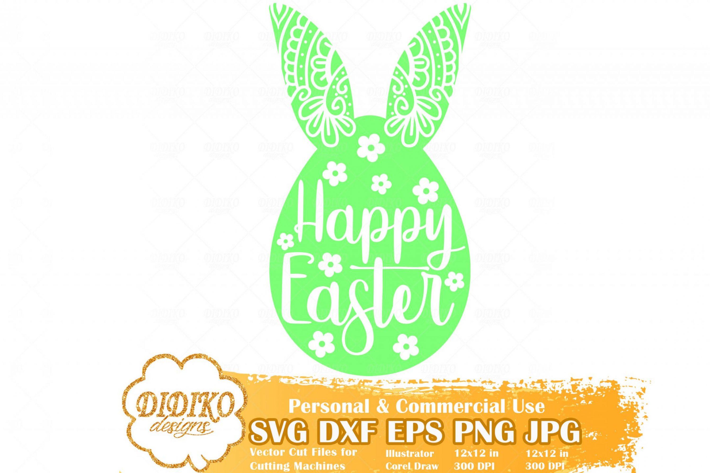 Happy Easter SVG, Easter SVG, Easter Egg SVG, Easter Mandala Svg, Easter Zentangle, Cricut File