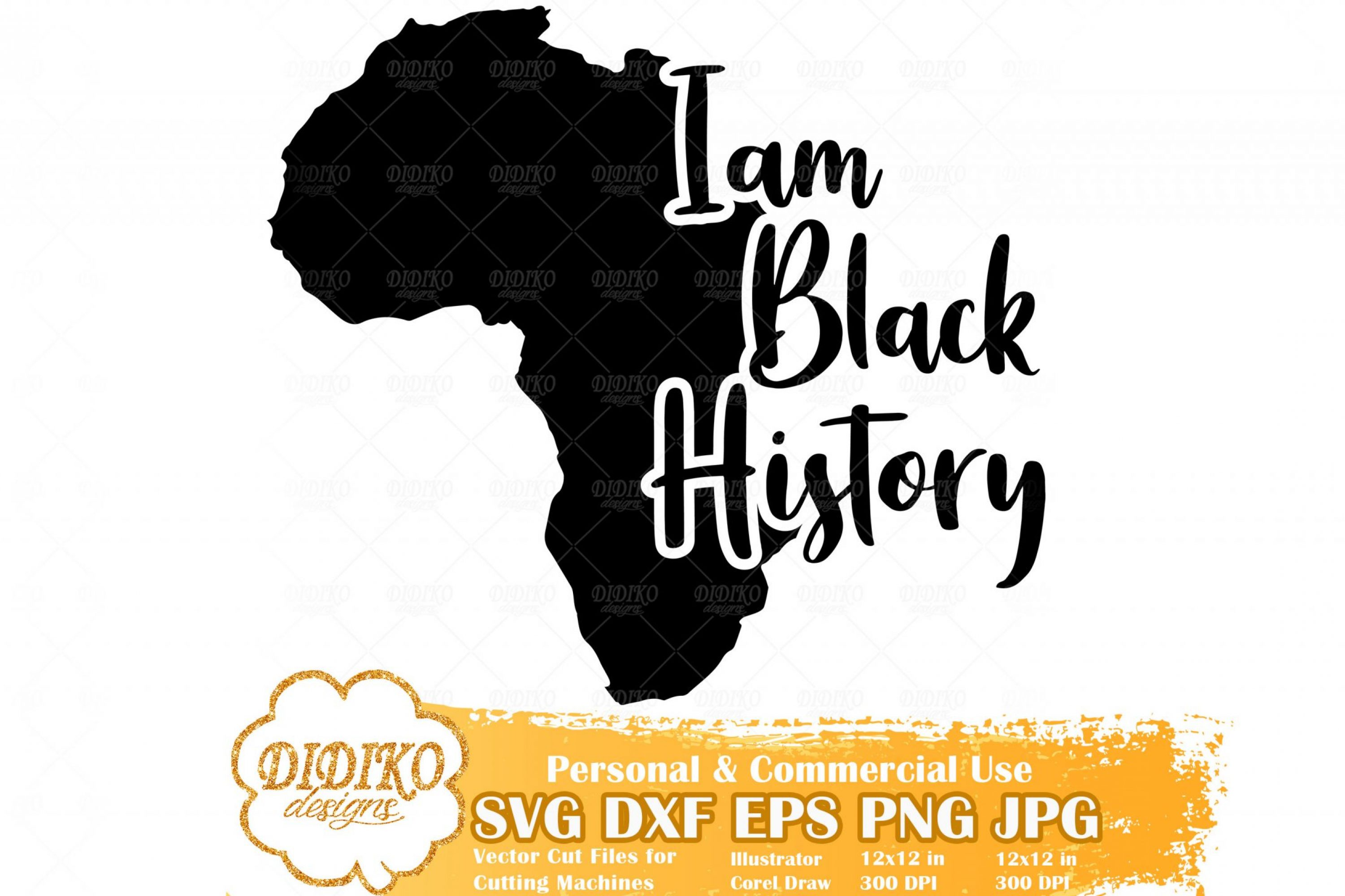 I'm Black History SVG #1, Africa SVG, Black History SVG, Africa Saying SVG, Cricut File
