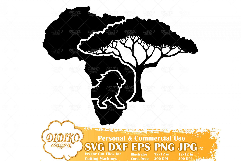 African Savana SVG, African Tree Svg, Lion Svg, Afrca Cut File, Black History SVG, Cricut File