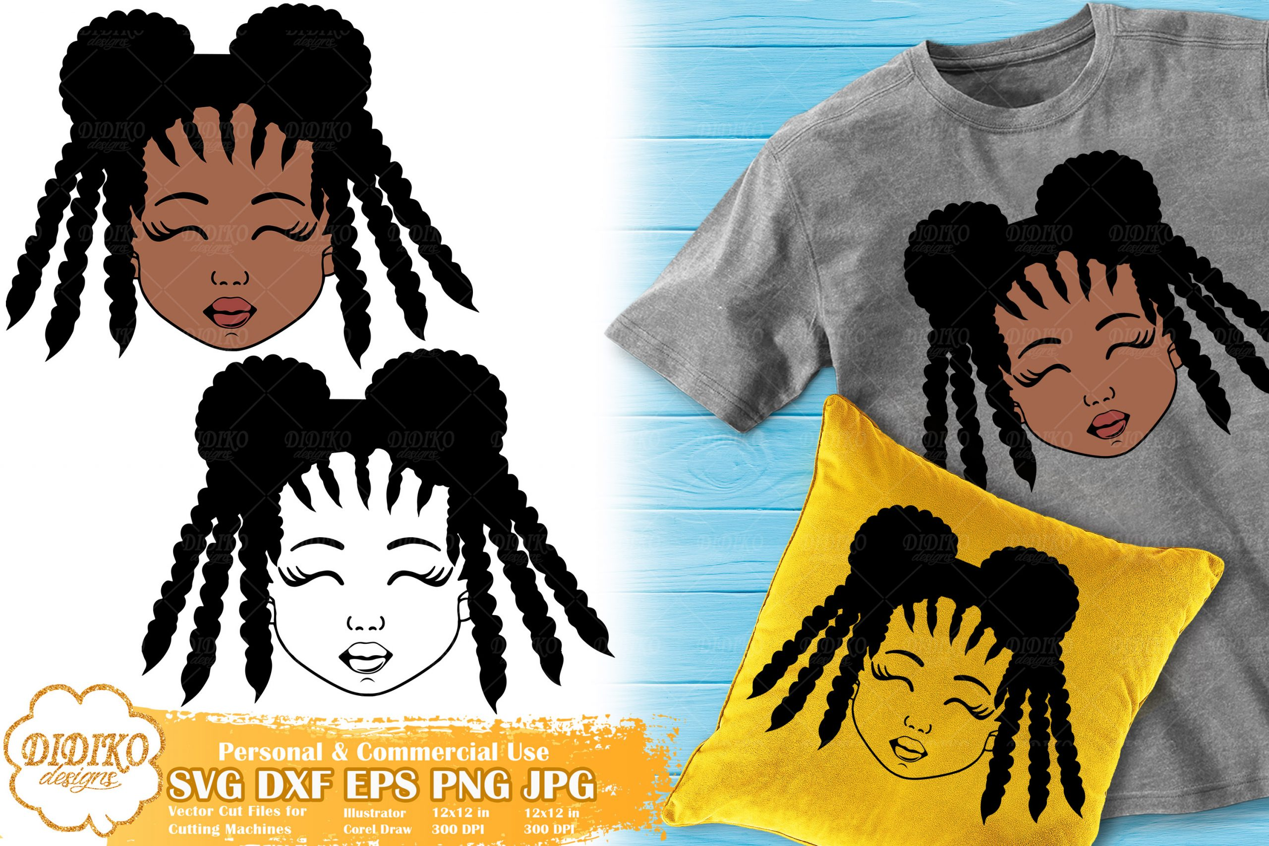 Black Girl SVG #4