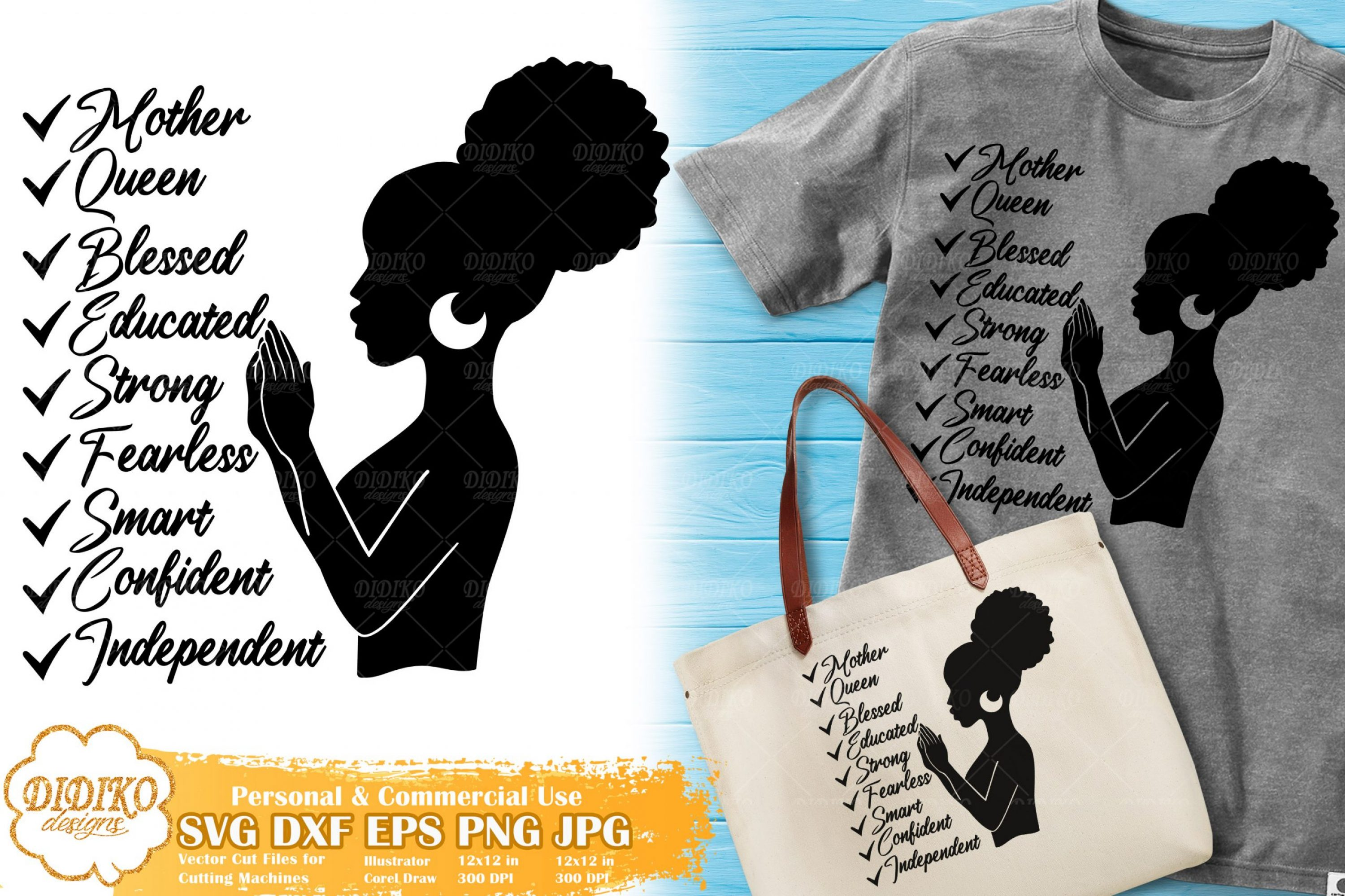 Black Woman With Words Svg 9 Mother S Day Svg Didiko Designs