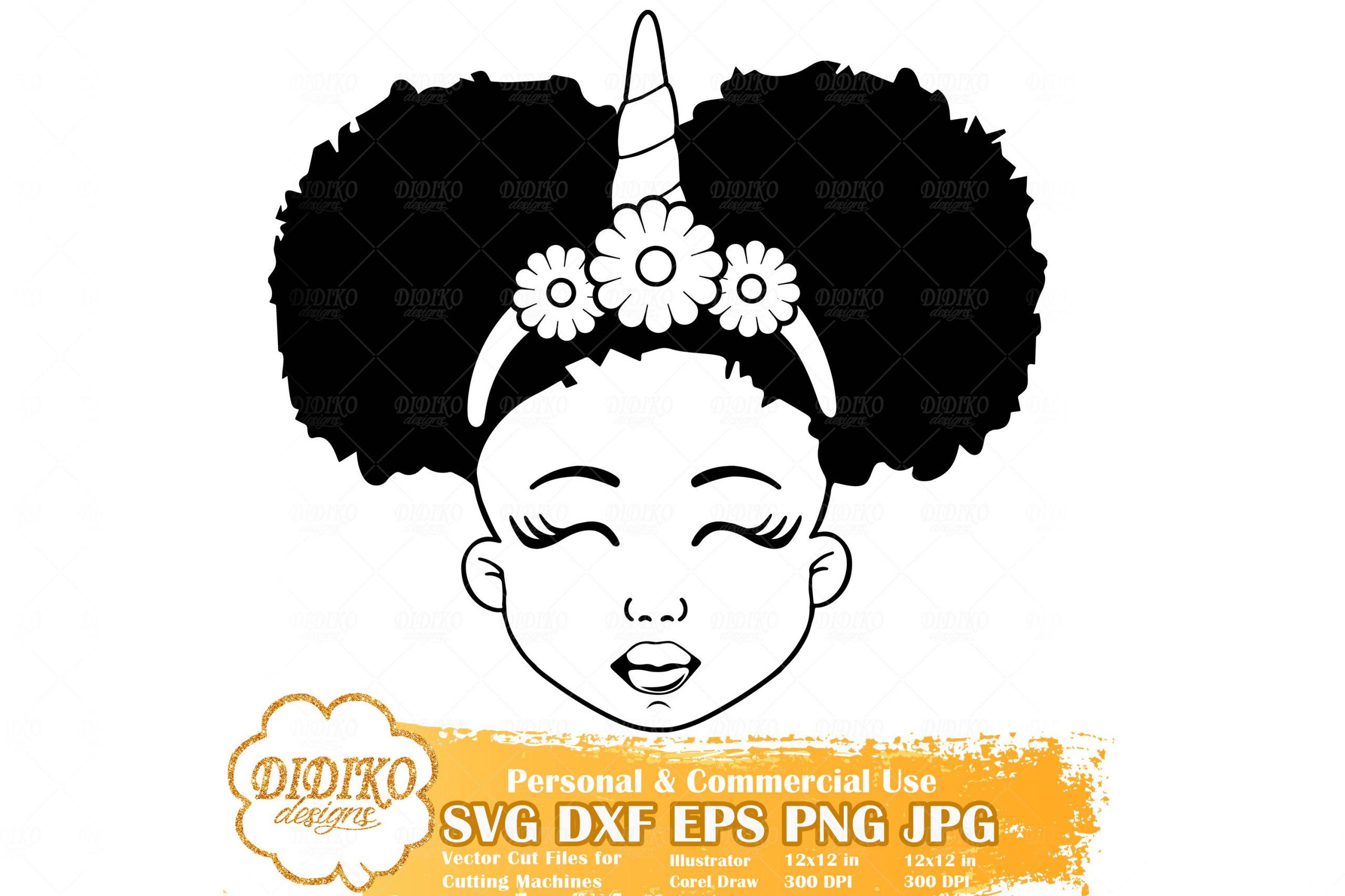 Black Girl Unicorn Svg 1 Afro Unicorn Silhouette Svg Didiko Designs
