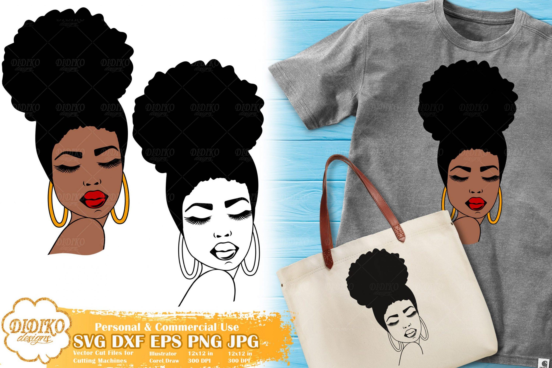 Black Woman SVG #1, Afro Woman SVG, Cricut File
