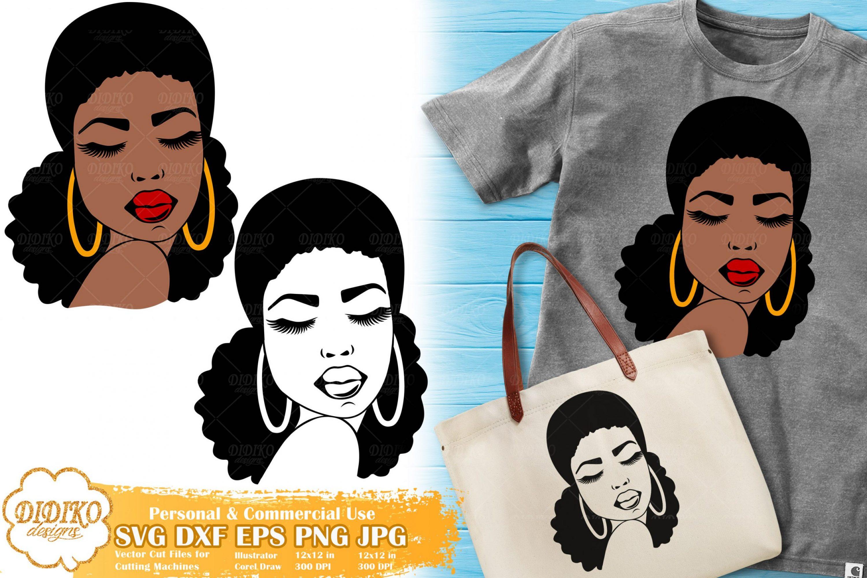 Black Woman SVG #2, Afro Woman SVG, Cricut File