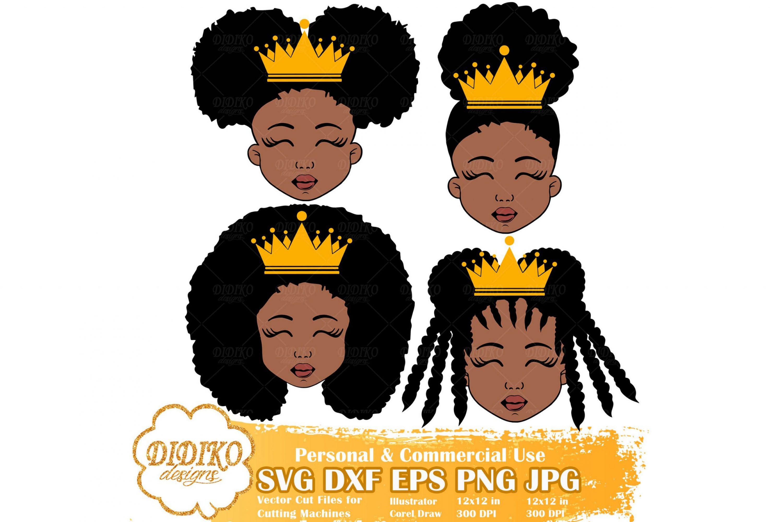 Black Girl Bundle SVG #4, Black Princess SVG, Cricut File