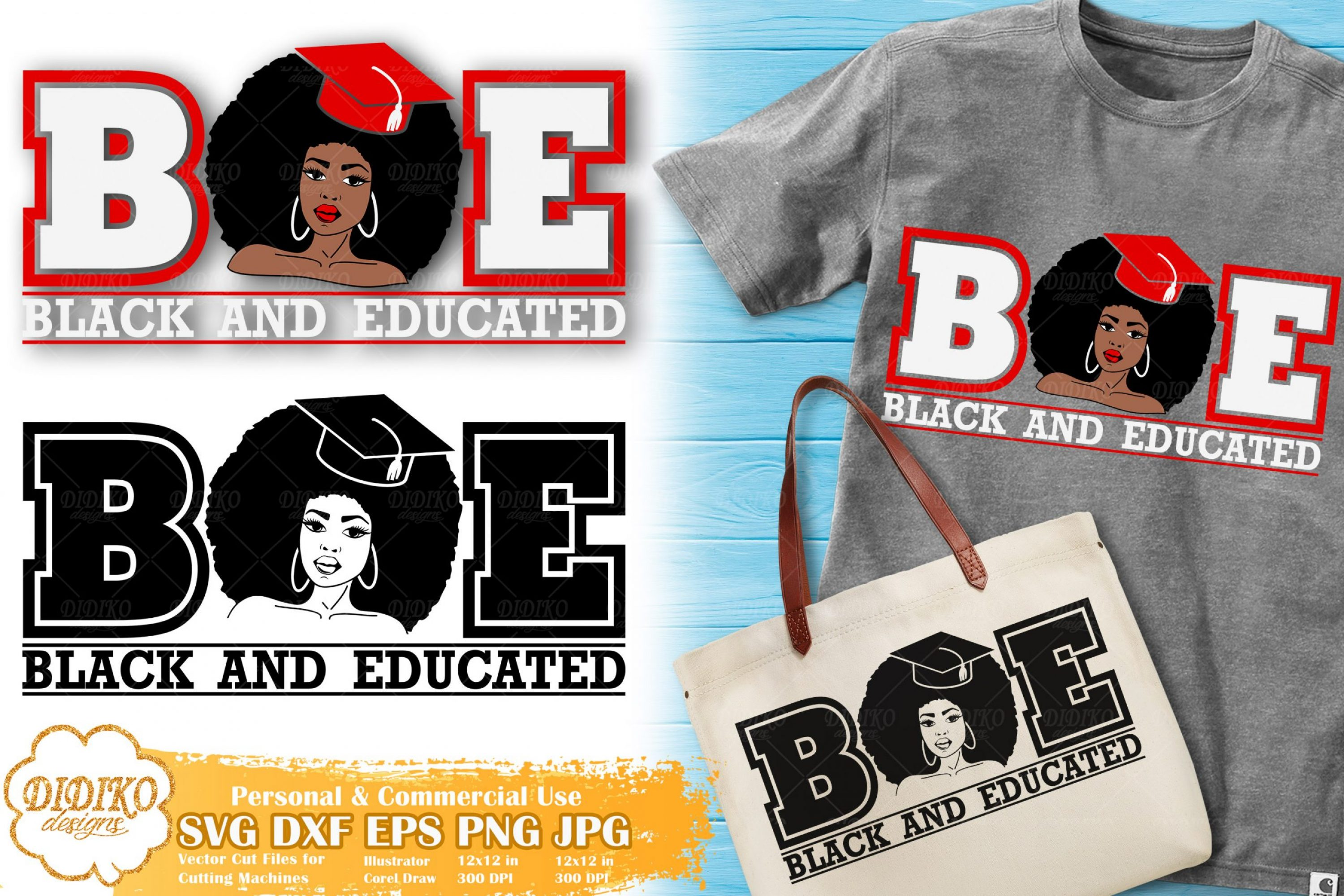 Black and Educated Woman SVG #3 | Sorority SVG