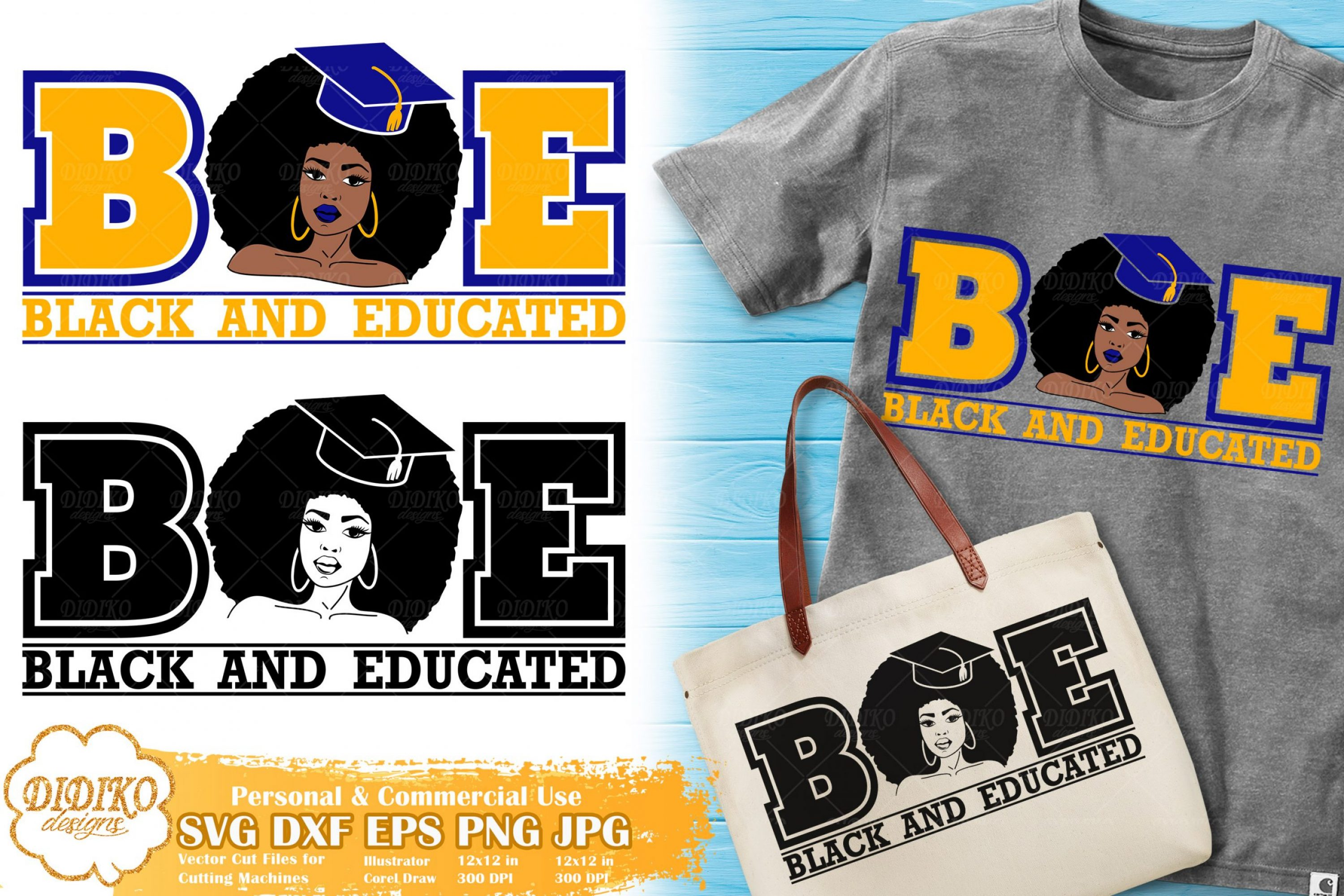 Black and Educated Woman SVG #4 | Sorority SVG