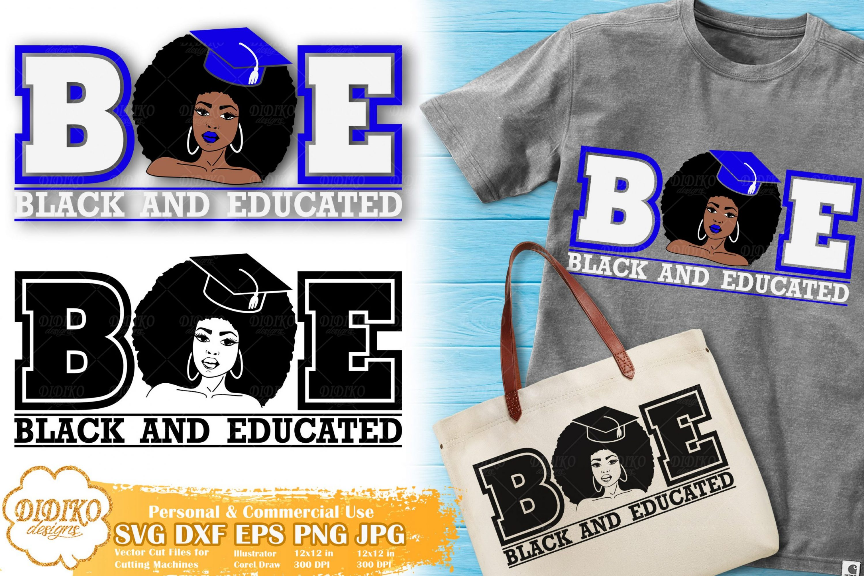 Black and Educated Woman SVG #1 | Sorority SVG