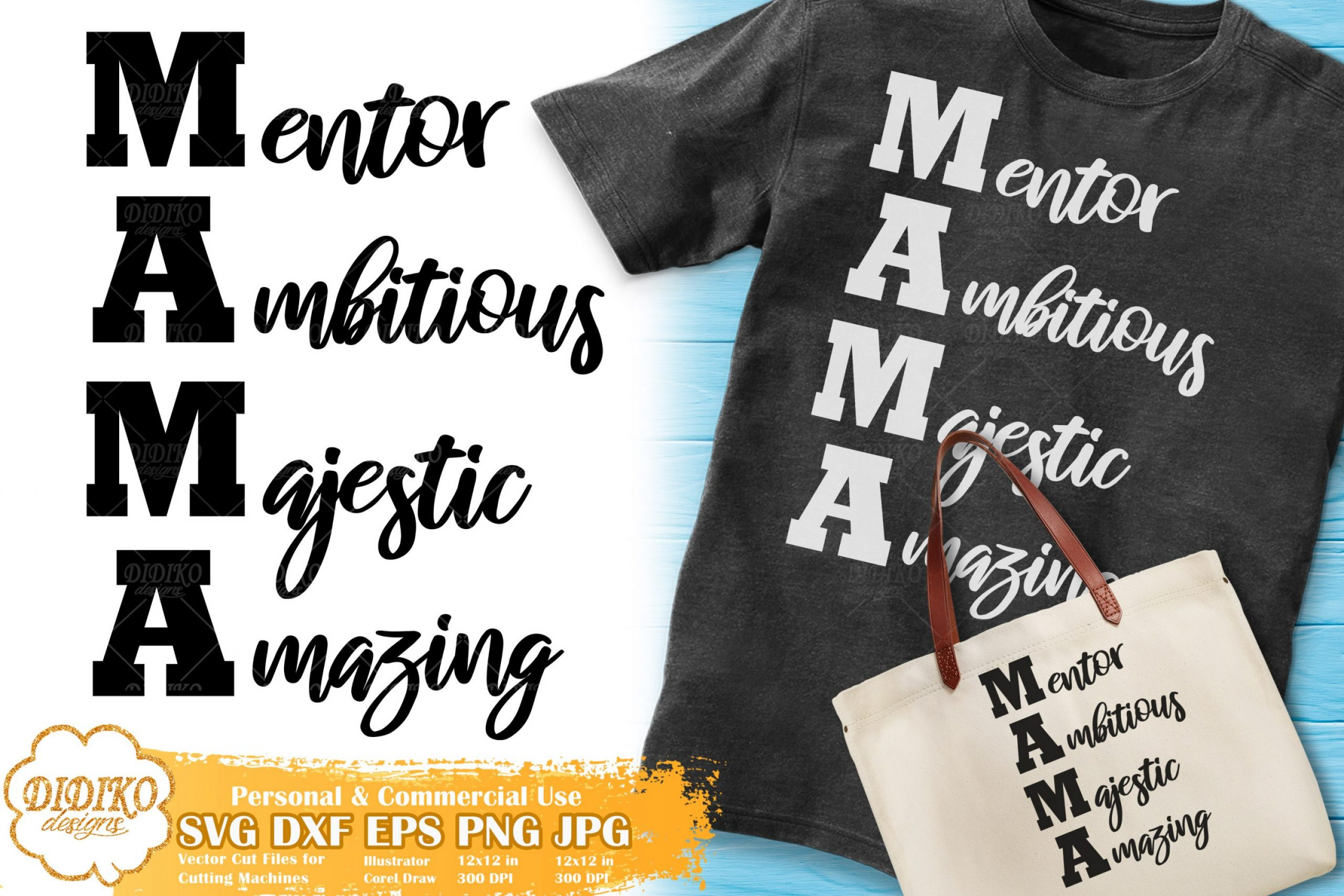 Mama SVG | Mother's Day Svg | Mother Words SVG