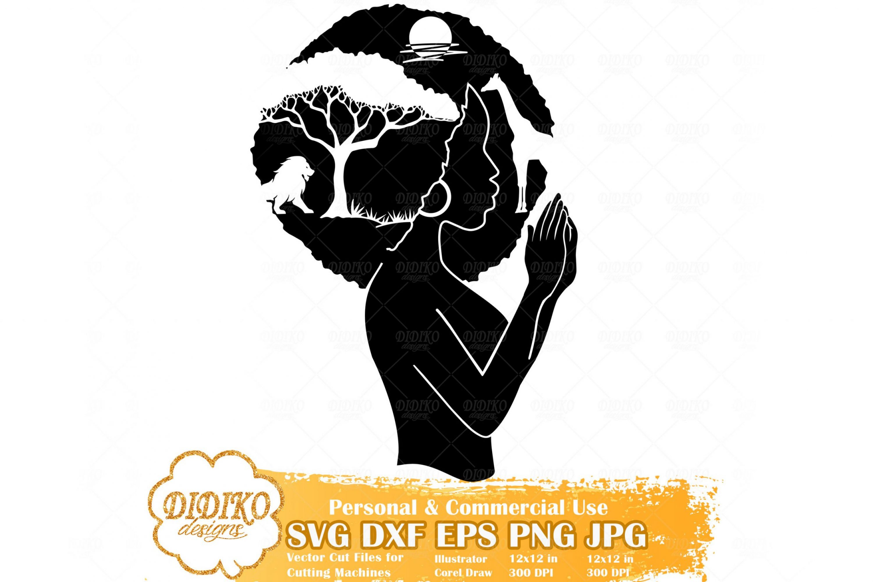 Praying Black Woman SVG #8, African Savanna Svg File
