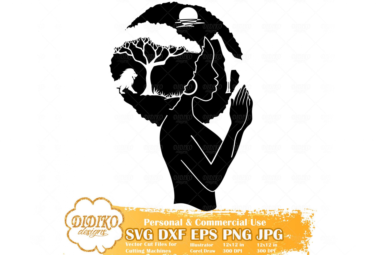Praying Black Woman SVG #8, African Savanna Svg File
