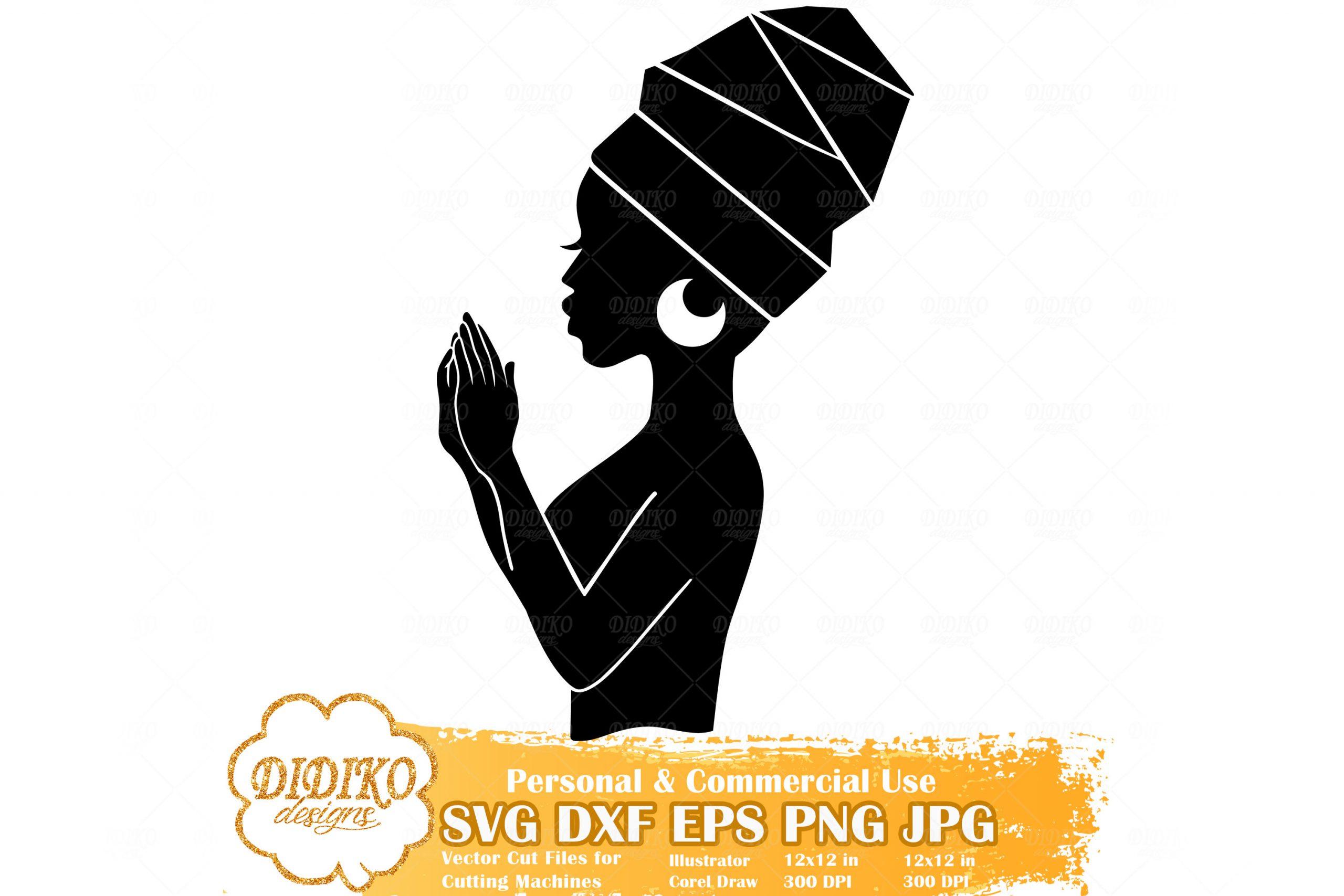 Praying Black Woman SVG