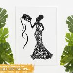 Black Woman Aquarius SVG