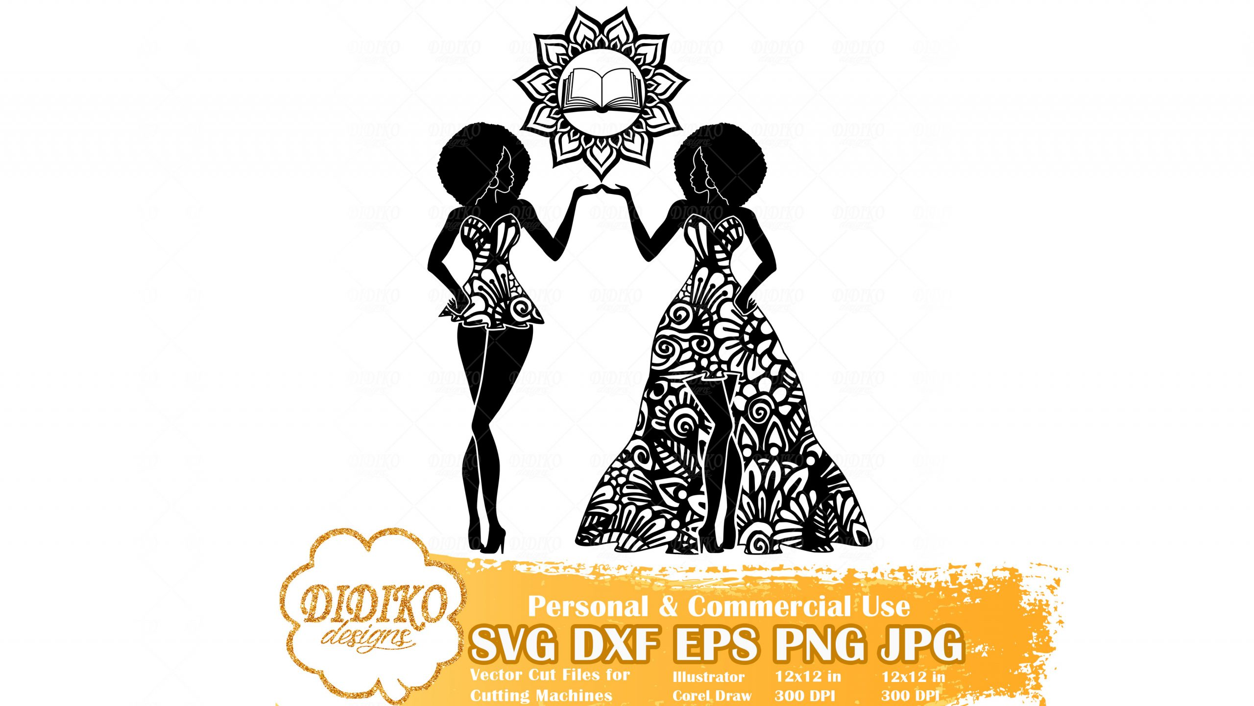 Black Woman Gemini SVG