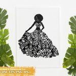 Black Woman Fashion SVG